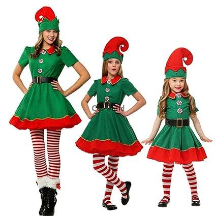 WAOBE Natale Costume Adulto Costume Costumi da Elfo 1600d2d3003