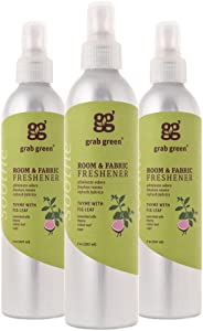 Grab Green NaturalRoom & Fabric Freshener, Phthalate-Free, Thyme with Fig Leaf, 7 Ounce Bottle (3-Pack)