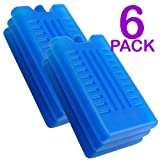 Freezer Blocks - Use With a Cool Bag For Added Cooling - Cools & Keeps Food Fresh (Pack of 6)- Random colour sent