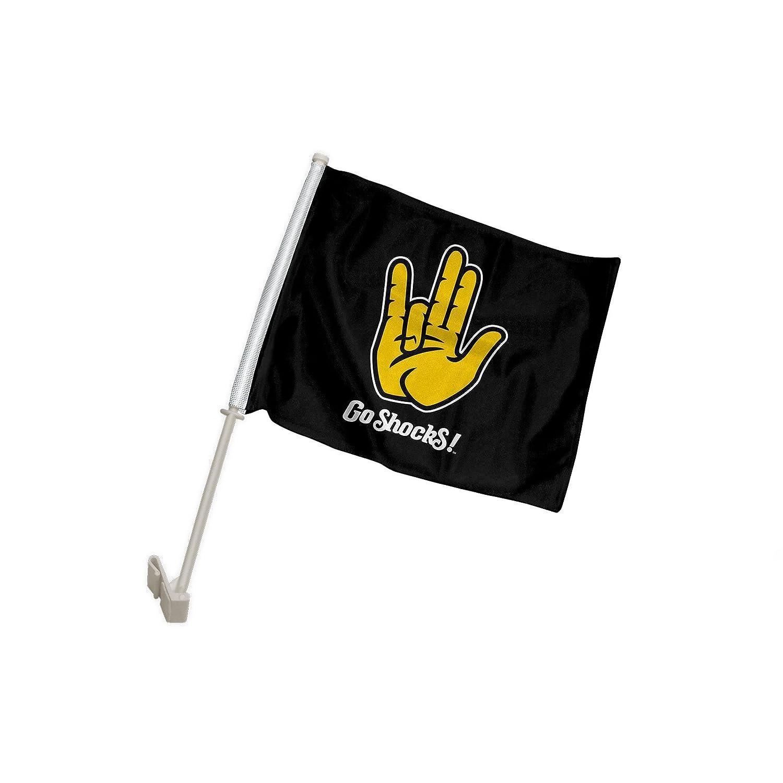 One, Double-Sided Root Sportswear Wichita State University Shockers WSU Shocker Hand Sign Car Flag
