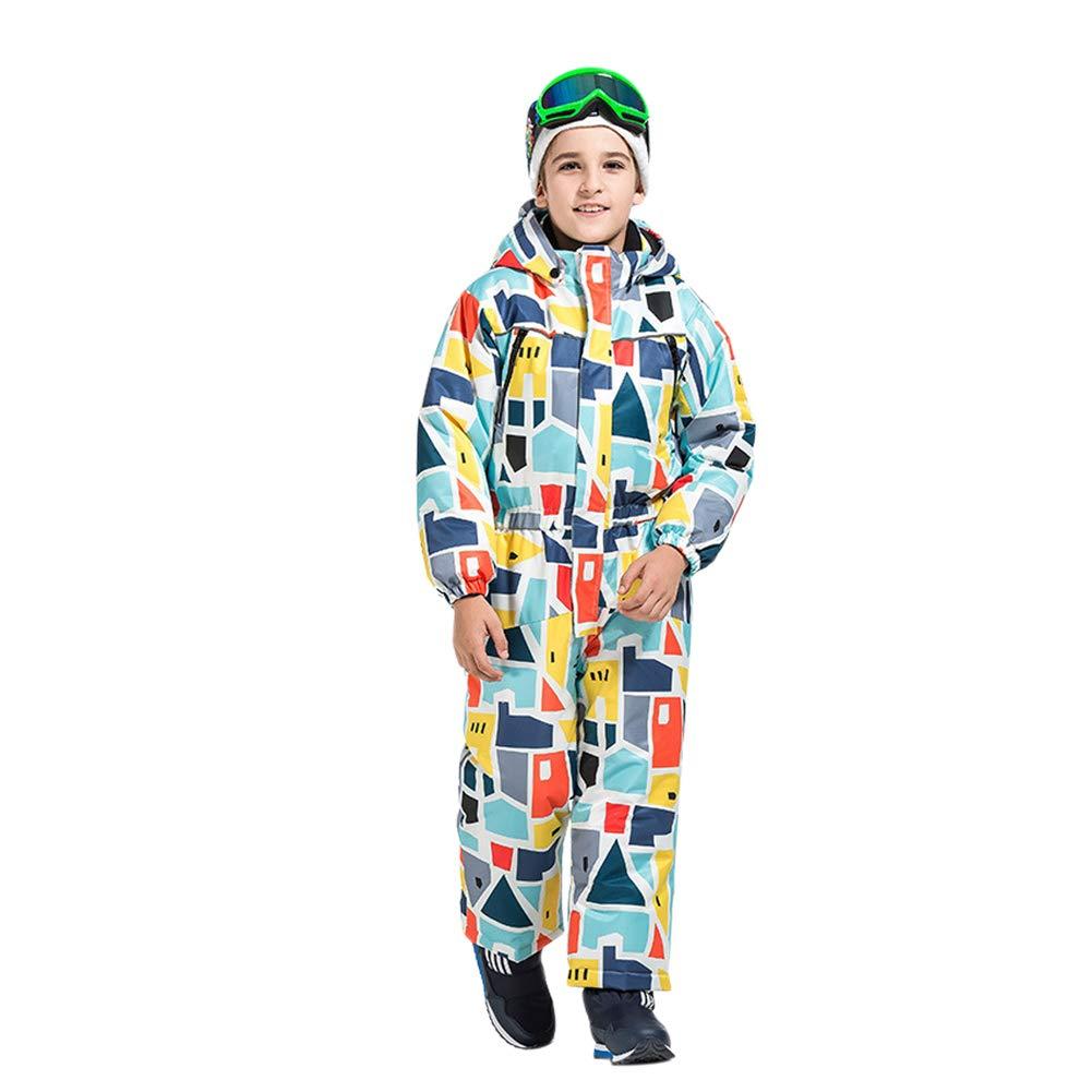 Waterproof Windproof Wear Resistant Adorable Winter Outdoor Warm One Piece for Boys Girls Janjunsi Kids Ski Suit Snowsuit