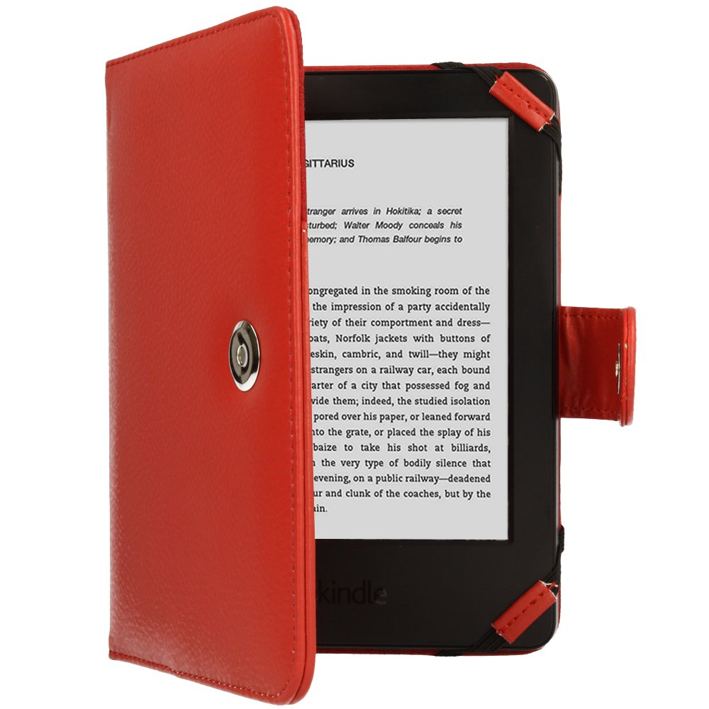 Book Style * with Free Screen Guard Included Techgear/® Kindle PU Leather Folio Case Cover with Magnetic Clasp for  Kindle eReader with 6/ Inch Screen *