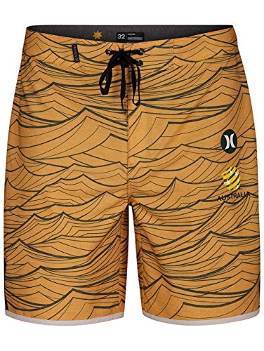 Hurley AJ6979 Men's Phantom Australia National Team Short, University Gold - 36