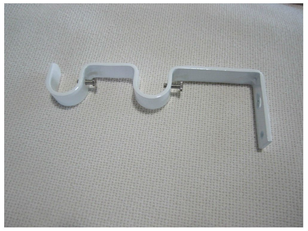 Heavy Duty Steel Double Drapery Curtain Rod Bracket,for 3/4'' & 5/8'' rod (GLOSSY WHITE)