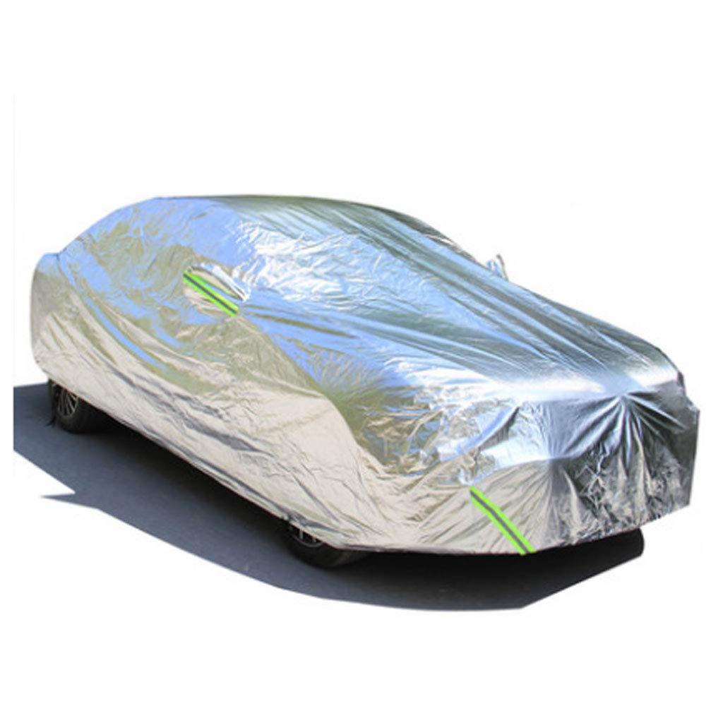 シルバー厚いアルミニウムフィルムの綿の車の衣類の車のカバーの雨と防雪防塵反射性の銀の日焼け止めの断熱の車のサンシェードフルモデル B07KXRJSF9
