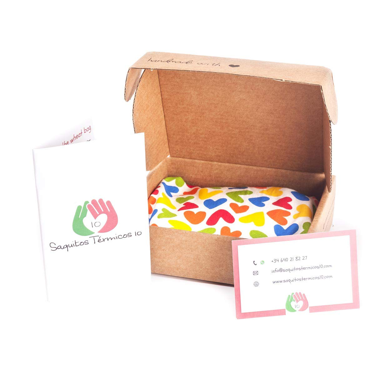 Saco térmico anticólicos para bebés (15x10 cm) Cojín de semillas para microondas hecho con tela de algodón 100%, con funda lavable y suave olor a ...