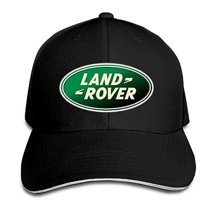 Amazon.com   GlyndaHoa Land Rover Logo Adjustable Snapback Peaked Cap  Baseball Hats Black   Sports   Outdoors 4b1ef109f11