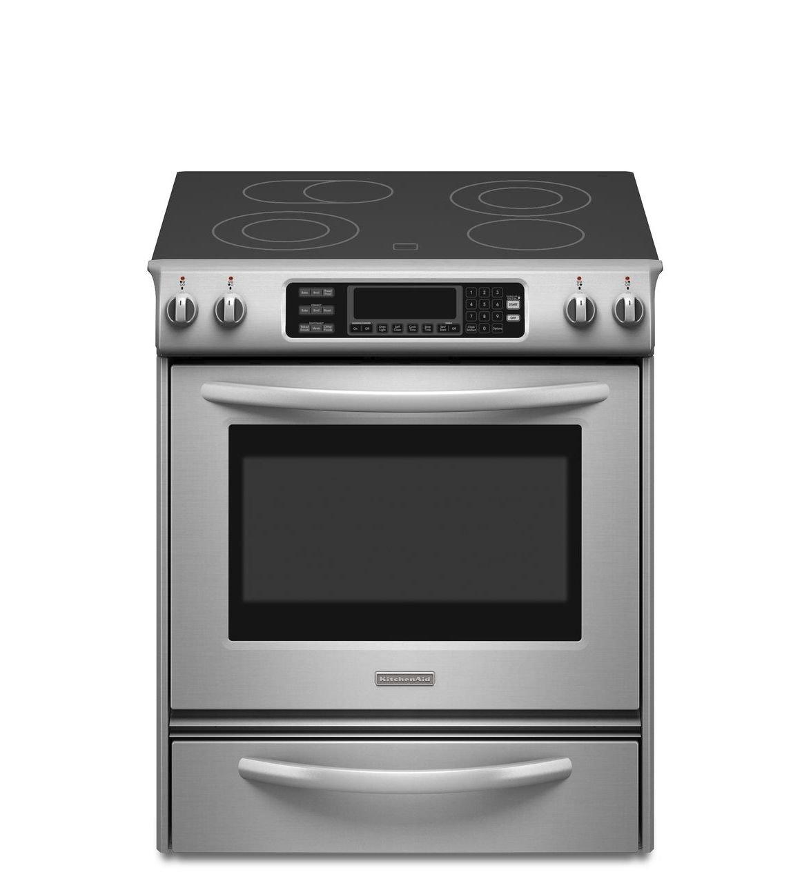 Amazon Com Kitchenaid Kess907sss True Convection Oven Glass Cooktop