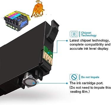 Abcs Printing Cartucce chiostro 29 29XL Cartuccia compatibili per Epson Expression Home XP-235 245 247 332 335 342 345 432 435 442 445 stampante,4 Nero 2 Ciano,2 Magenta 2 Giallo