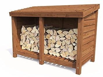Dunster House Wood Store Log Storage Outdoor Firewood Wooden Kindling  Garden Shed (W6u0027 0u0026quot