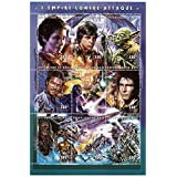 Star Wars stamps - Star Wars The Empire strikes back - 9 stamps. Mint and never mounted stamp sheet