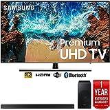 Samsung UN55NU8000 55' NU8000 Smart 4K UHD TV (2018) with Samsung HW-N550/ZA 3.1 Channel Soundbar System and 1 Year Warranty Bundle