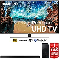 Samsung UN55NU8000 55 NU8000 Smart 4K UHD TV (2018) with Samsung HW-N550/ZA 3.1 Channel Soundbar System and 1 Year Warranty Bundle