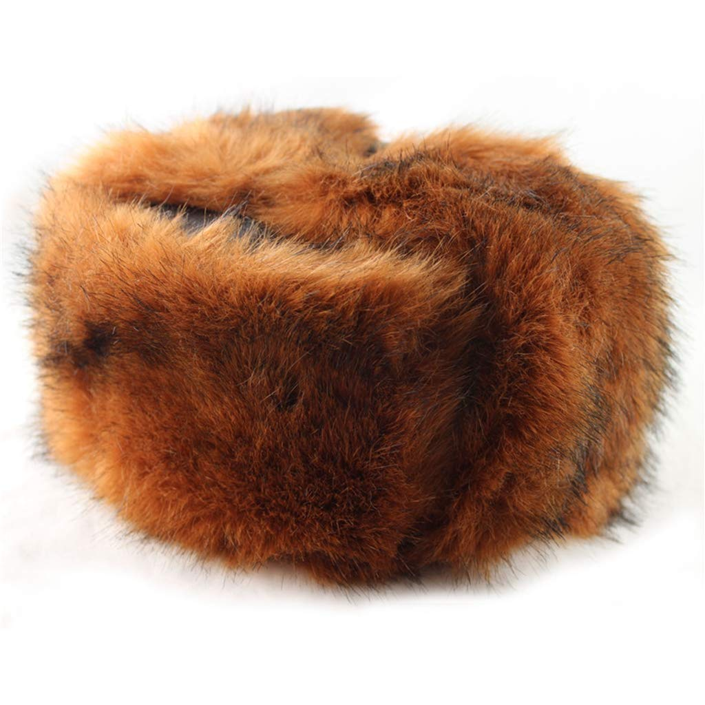 58a7ee79f5aef9 Brown Winter Fur Trapper Trooper Hat Hat Hat with Ear Flaps Warm Russian  Ushanka Skiing Hunting Bomber Hat for Men c038b4