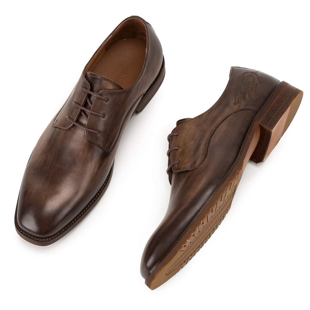 MERRYHE Handarbeit Handarbeit Handarbeit Aus Echtem Gebürstetem Leder Derby Herren Business Formelle Kleidung Schuhe Karree Arbeit Partei Hochzeit Schuhe B07KLTTJ8L  297f7b