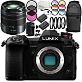 Panasonic Lumix DC-G9 Mirrorless Digital Camera with G Vario 14-140mm f/3.5-5.6 Lens 10PC Accessory Bundle – Includes 2x Replacement Batteries + MORE - International Version (No Warranty)