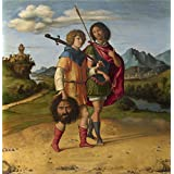 Oil painting 'Giovanni Battista Cima da Conegliano David and Jonathan ' printing on Perfect effect canvas , 12 x 12 inch / 30 x 32 cm ,the best Kitchen decor and Home gallery art and Gifts is this Reproductions Art Decorative Canvas Prints