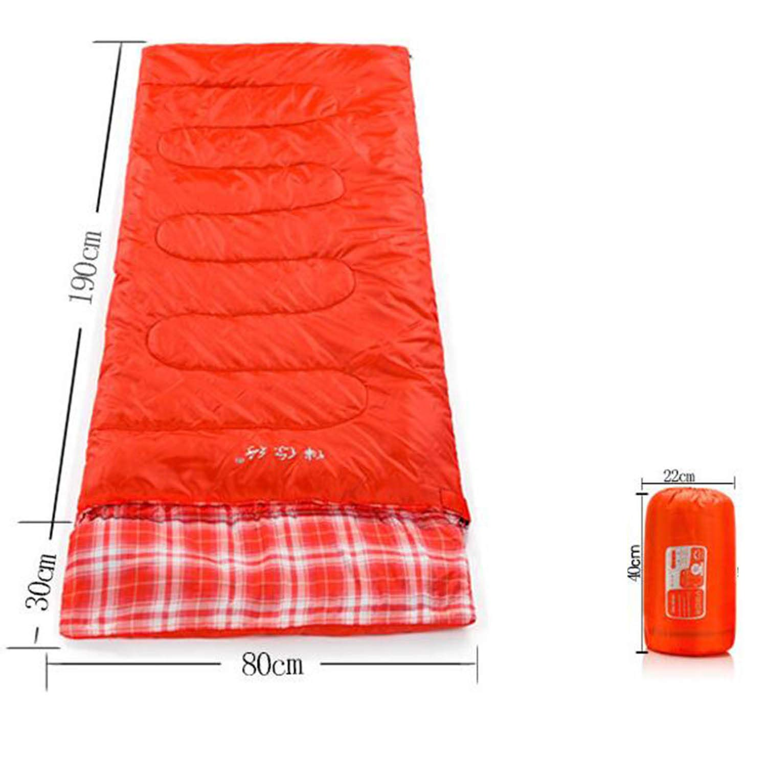 LNYF-OV Sleeping Bag Outdoor Adult Winter Warm Spring Autumn Super Light Extra Long Indoor Party, Moisture Proof Compression Bag, ROT, Größe: 220  80cm