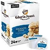 Gloria Jean's Macadamia Cookie Coffee, Flavored Single Serve Keurig K-Cup Pod 24 Ct