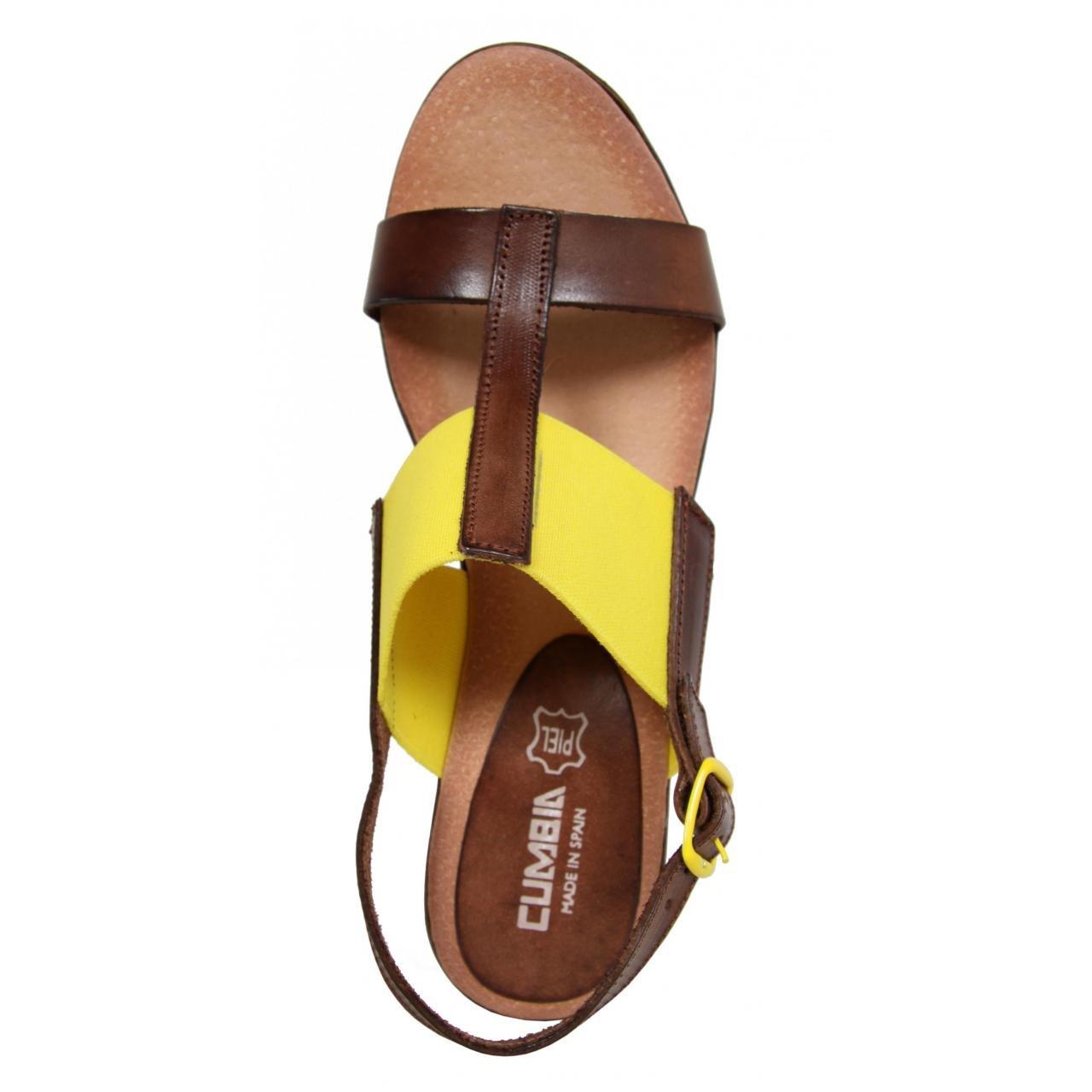 CUMBIA CUMBIA CUMBIA Schuhe Keilabsatz für Damen 30126 NUEZ-Amarillo - f89406