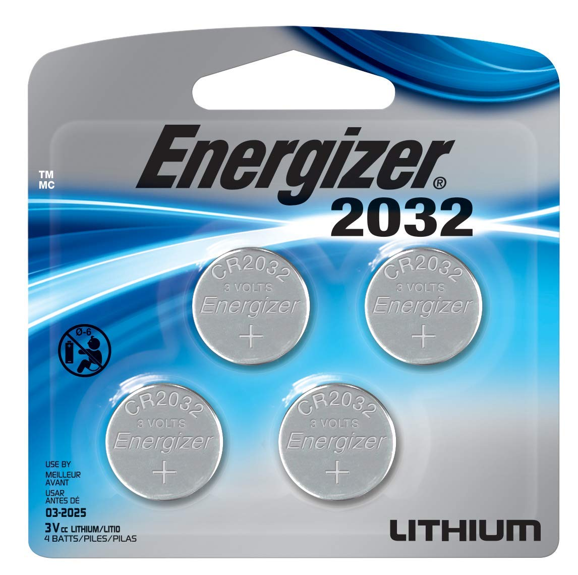 Energizer Cr2032 3 Volt Lithium Coin Battery, 4 Count product image
