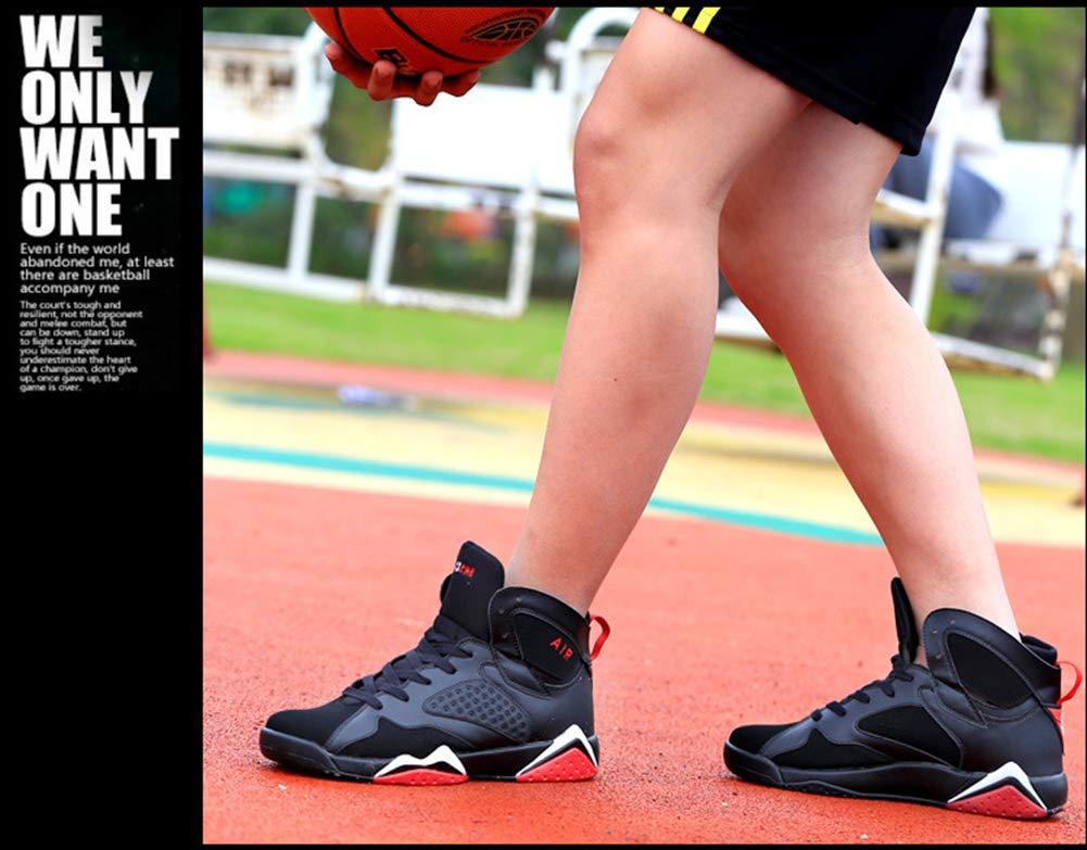 SZF228 Herren Basketball-Schuhe Laufen Bergsteigen Lace-Up LäSsige Sportmode Walking Basketball-Schuhe Basketball-Schuhe Basketball-Schuhe Turnschuhe (Weiß Schwarz, Schwarz Rot) B07PK8ZWNW Basketballschuhe Ausgewählte Materialien c91cdb