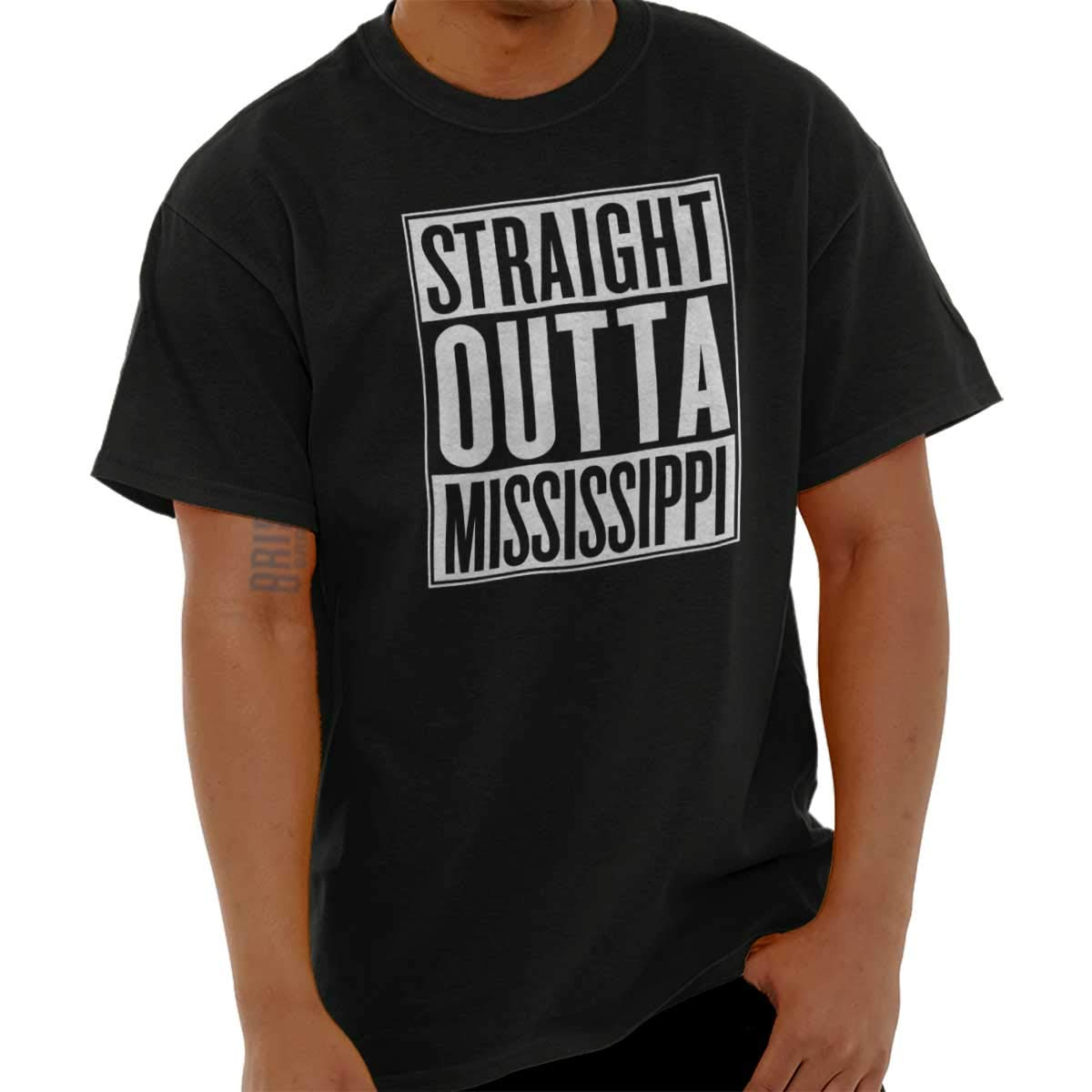 Straight Outta Mississippi State Ms Movie Gift T Shirt Tee