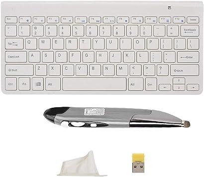 Bewinner KM-909 Slim Mini 2.4G Teclado Inalámbrico con Mouse ...