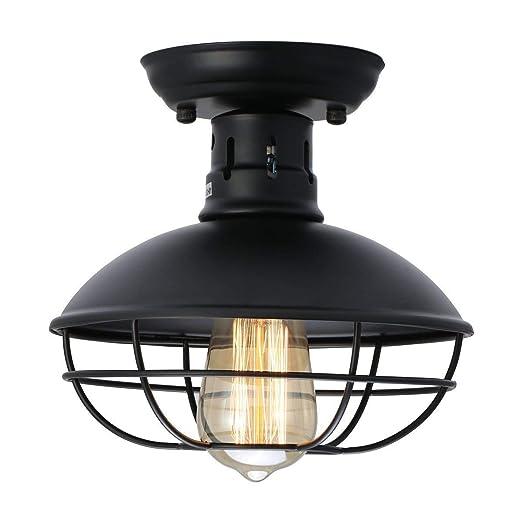 Vintage Kitchen Lighting Semi Flush Mount Ceiling Light