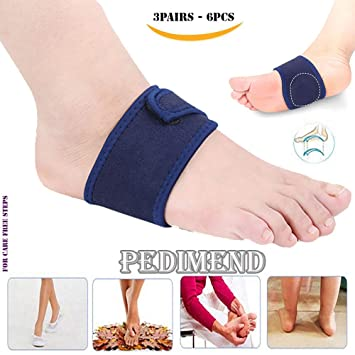 6551eef5f5 Plantar Fasciitis Cushion Arch Support with Gel Therapy BY PEDIMEND (3PAIRS  – 6PCS) -