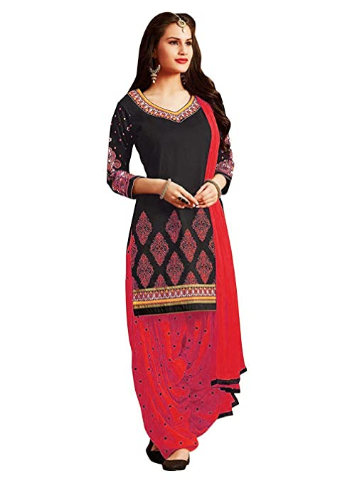 Nivah Fashion Women's Cotton Unstitched Salwar Suit Dress Material