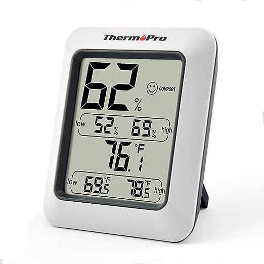 695 opinioni per ThermoPro Termometro e Igrometro digitale/ Igrometro digitale Temperatura e