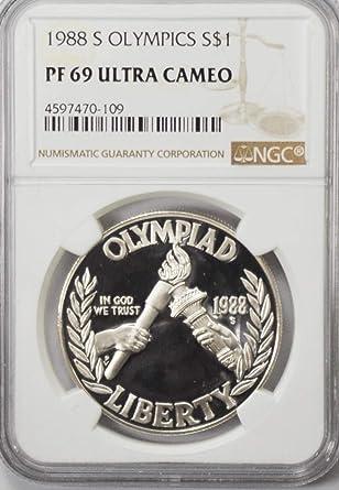 1984 S $1 Los Angeles Olympiad Commemorative Silver Dollar NGC PF69 UC