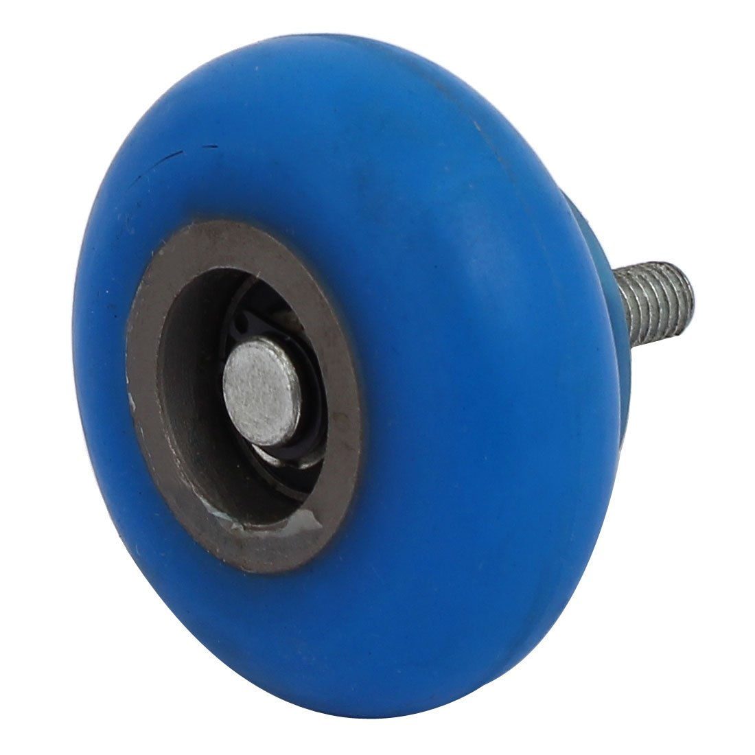 uxcell M8 Thread Dia 60mm x 30mm R10 Coating Machine Silicon Rubber Wheel Roller