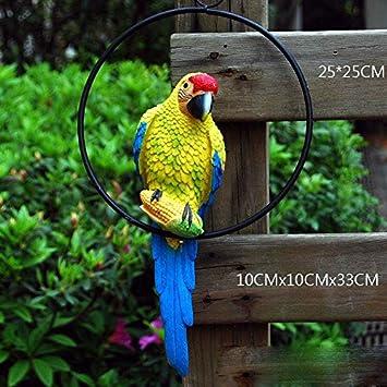 Wonderland Blue Parrot In Ring For Hanging Home Decor Garden Decoration Parrots Bird Balcony Gift Amazonin
