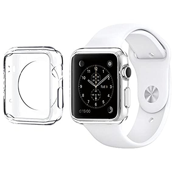 innovative design 3792f 17226 For Apple Watch Case 38mm CaseHQ Hard Soft TPU Transparent Full Body Screen  Protector 0.3mm Thin Case Apple Watch Cover For Apple Watch / Watch Sport  ...