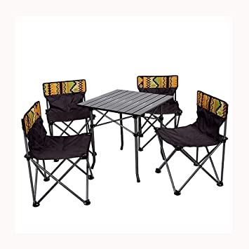 Amazon.com: Portable Outdoor Camping Table and Chair Set ...