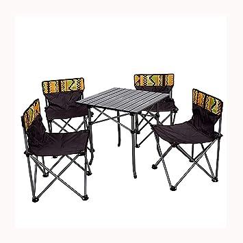 Conjunto de mesa y silla de camping Plein Air portátil mesa ...