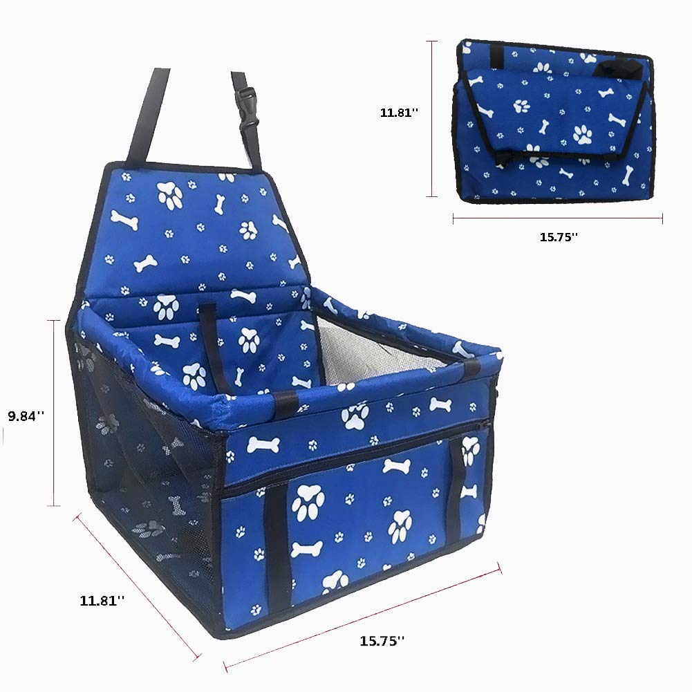 Breathable Waterproof Dog Cat Booster Seat Cover Protector Pet Travel Carrier Bag with Safety Leash for Small Dogs Cats Puppies Travelling PETEMOO Pet Car Booster Seat for Small Dogs Cats