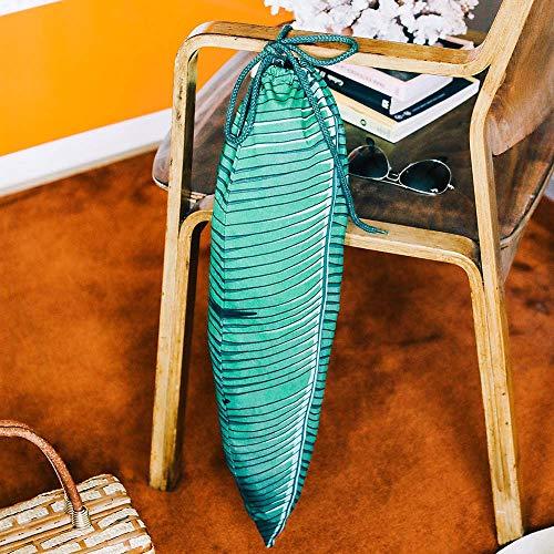 DOIY Green Tropical Leaf Travel Laundry Bag