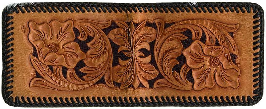 Baoblaze DIY Leather Wallet Kit Black 11 x 9cm to Make Men Bifold Business Leather Wallet ID Credit Card Holder Purse Pockets
