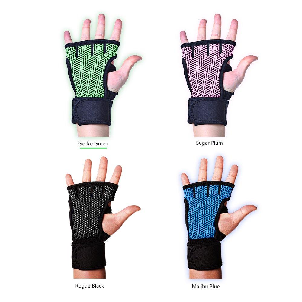 fitony entrenamiento Crossfit guantes de levantamiento de pesas WOD | antideslizante, sudor absorbente y fuerte agarre guantes Set, perfecto para los ...