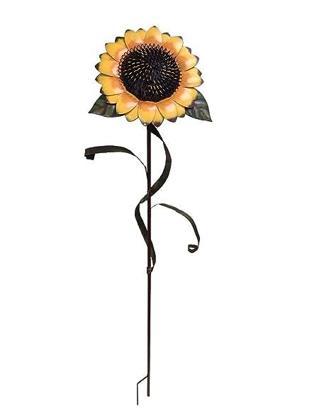 Beautiful 48 Inch Metal Sunflower Garden Stake