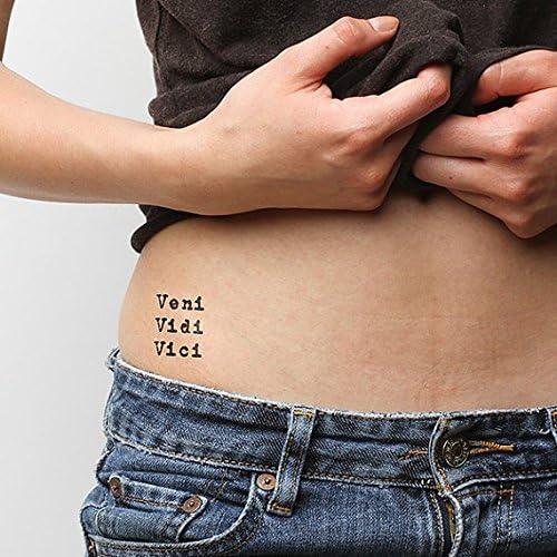 Tatuaje Temporal Tattify - Veni Vidi Vici – Victorioso (Juego de 2 ...