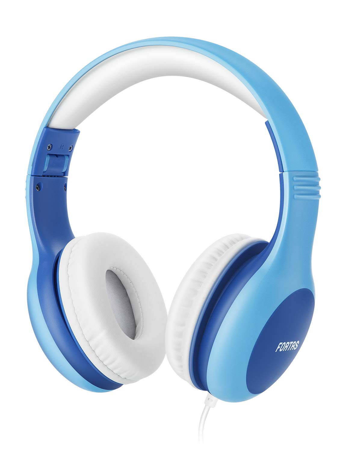 Fortas Kids Headphones, Audio Sharing Function On-Ear Headphones with 85dB Volume Limited, Soft Earmuffs, 3.5mm Jack, Compatible with iPhone, iPad, Cellphones, Tablets, Android, Mac, PC (Blue) by Fortas