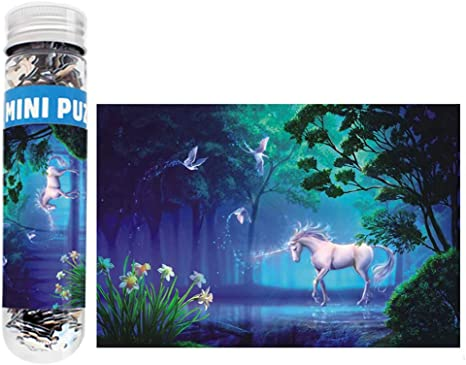 Small Jigsaw Puzzles for Adults and Kids 150 Pieces Mini Unicorn Jigsaw Puzzles 6 x 4 Inches