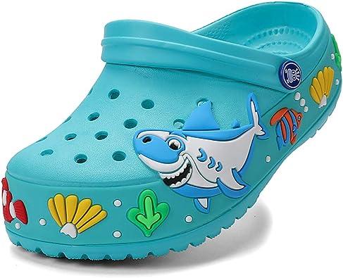 Amazon.com | FolHaoth Kids Clogs Boys Girls Cute Cartoon Slides Sandals  Garden Shoes Slip-on Beach Pool Shower Slippers | Clogs & Mules