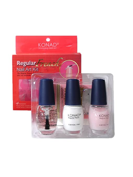 Amazon.com : Konad French Manicure Stamping Nail Art Kit : Fake ...