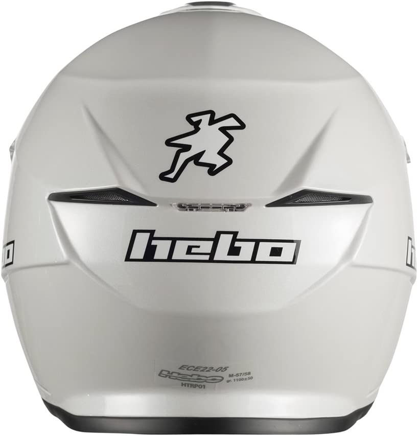 Hebo Trial Zone 5/Casque Blanc Taille M