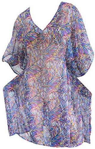 La Leela Ladies Plus Size Beach Wear Bikini Swimwear Swimsuit Kimono Cover Up